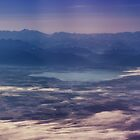 Early Morning View of Lake Chiem and the Alps by Kasia-D