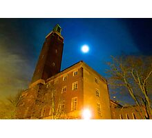Norwich City Hall at Night, England Photographic Print