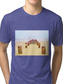 Out to Sea- Yellow Tri-blend T-Shirt