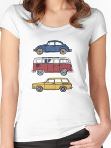 Vintage Volkswagen Family Women's Fitted Scoop T-Shirt