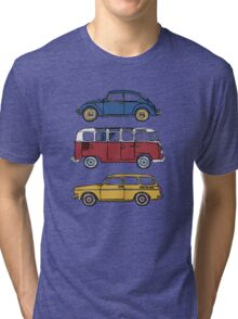 Vintage Volkswagen Family Tri-blend T-Shirt