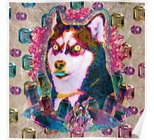 glitch husky  Poster