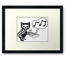 death cat music Framed Print