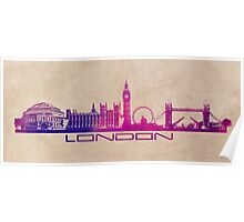 London skyline city  purple Poster
