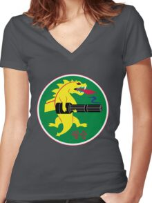 25th Fighter Squadron Women's Fitted V-Neck T-Shirt
