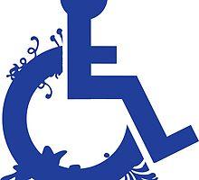 Floral Disability Symbol by HopeandHandler