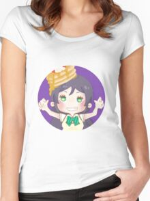 LOVE LIVE! Pancake Nozomi Women's Fitted Scoop T-Shirt