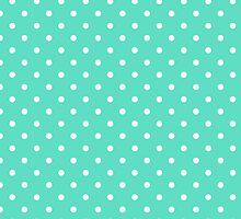 Aqua Blue Box Tiffany Aqua Blue with White Polka Dots by honorandobey