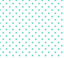 Aqua Blue Box Tiffany Aqua Blue Polka Dots on White by honorandobey