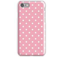 Pink Fizz Pink with White Polka Dots iPhone Case/Skin
