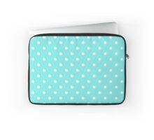 Aqua Belle Blue with White Polka Dots Laptop Sleeve