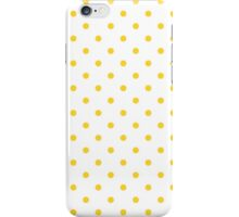 Taxi Yellow Polka Dots on White iPhone Case/Skin