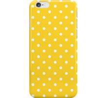 Taxi Yellow with White Polka Dots iPhone Case/Skin