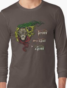 Reggae Rasta Iron, Lion, Zion 4 Long Sleeve T-Shirt