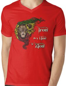 Reggae Rasta Iron, Lion, Zion 4 Mens V-Neck T-Shirt