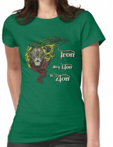 Reggae Rasta Iron, Lion, Zion 4 Womens Fitted T-Shirt