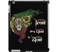 Reggae Rasta Iron, Lion, Zion 4 iPad Case/Skin