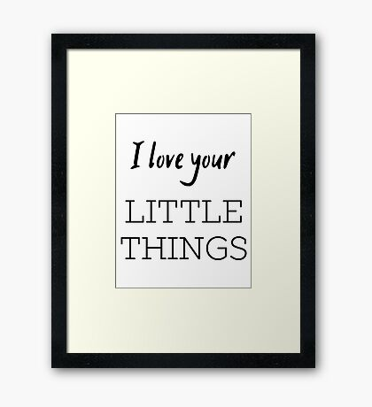 Little Things Framed Print