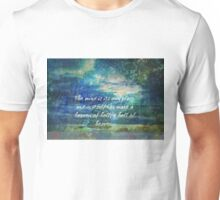 John Milton heaven and hell Paradise Lost quote with landscape Unisex T-Shirt