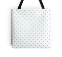 Blue Garter Polka Dots on White Tote Bag