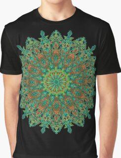 orange and green mandala style bohemian chic Graphic T-Shirt