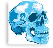 blue skull illustration Canvas Print