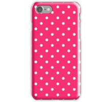 Pink Pucker with White Polka Dots iPhone Case/Skin