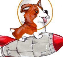 Rocket Corgi Sticker