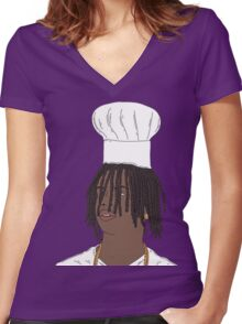 Chief Keef|Chef Keef Women's Fitted V-Neck T-Shirt
