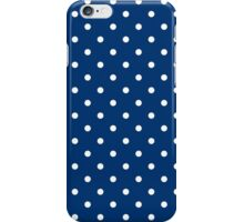 Subway Blue with White Polka Dots iPhone Case/Skin