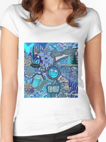 Blue Ridge Collage Women's Fitted Scoop T-Shirt