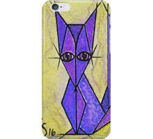 blue fox iPhone Case/Skin
