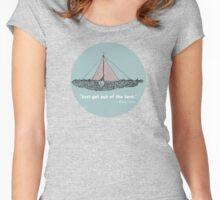 Just get out of the tent Women's Fitted Scoop T-Shirt