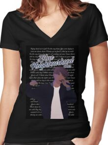 Troye Sivan Women's Fitted V-Neck T-Shirt