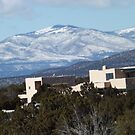 Snow Covered Mountains, December, Santa Fe, New Mexico by lenspiro