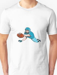 American Football Player Touchdown Drawing T-Shirt