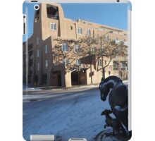 Sculpture, January, Adobe Architecture, Snow View, Santa Fe, New Mexico   iPad Case/Skin