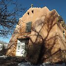 Classic Adobe Architecture, Church, Santa Fe, New Mexico   by lenspiro