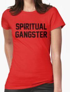 Spiritual Gangster - Black Text Womens Fitted T-Shirt