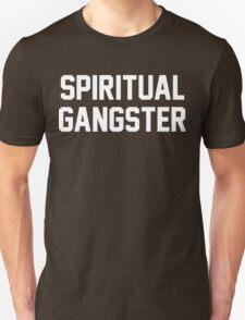 Spiritual Gangster - White Text T-Shirt