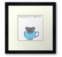 The Elephant's House is a Teacup Framed Print