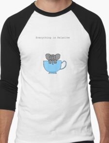 The Elephant's House is a Teacup Men's Baseball ¾ T-Shirt