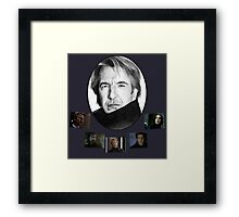 The Many Faces of Alan Rickman Framed Print