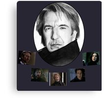 The Many Faces of Alan Rickman Canvas Print