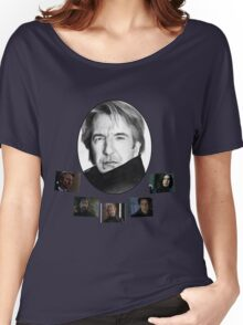 The Many Faces of Alan Rickman Women's Relaxed Fit T-Shirt