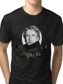 The Many Faces of Alan Rickman Tri-blend T-Shirt