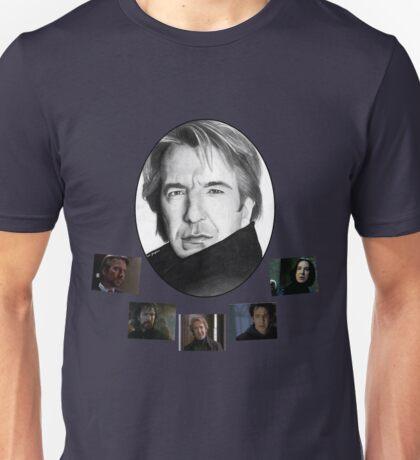 The Many Faces of Alan Rickman Unisex T-Shirt