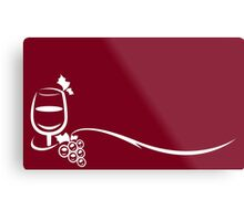Red Wine Lover and Grape Vine Metal Print