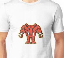 Three Headed Elephant Standing Retro Unisex T-Shirt