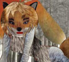 The Fox (4880 Views) Sticker